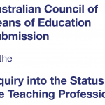 ACDE Submission to the House of Reps Status of Teachers Inquiry